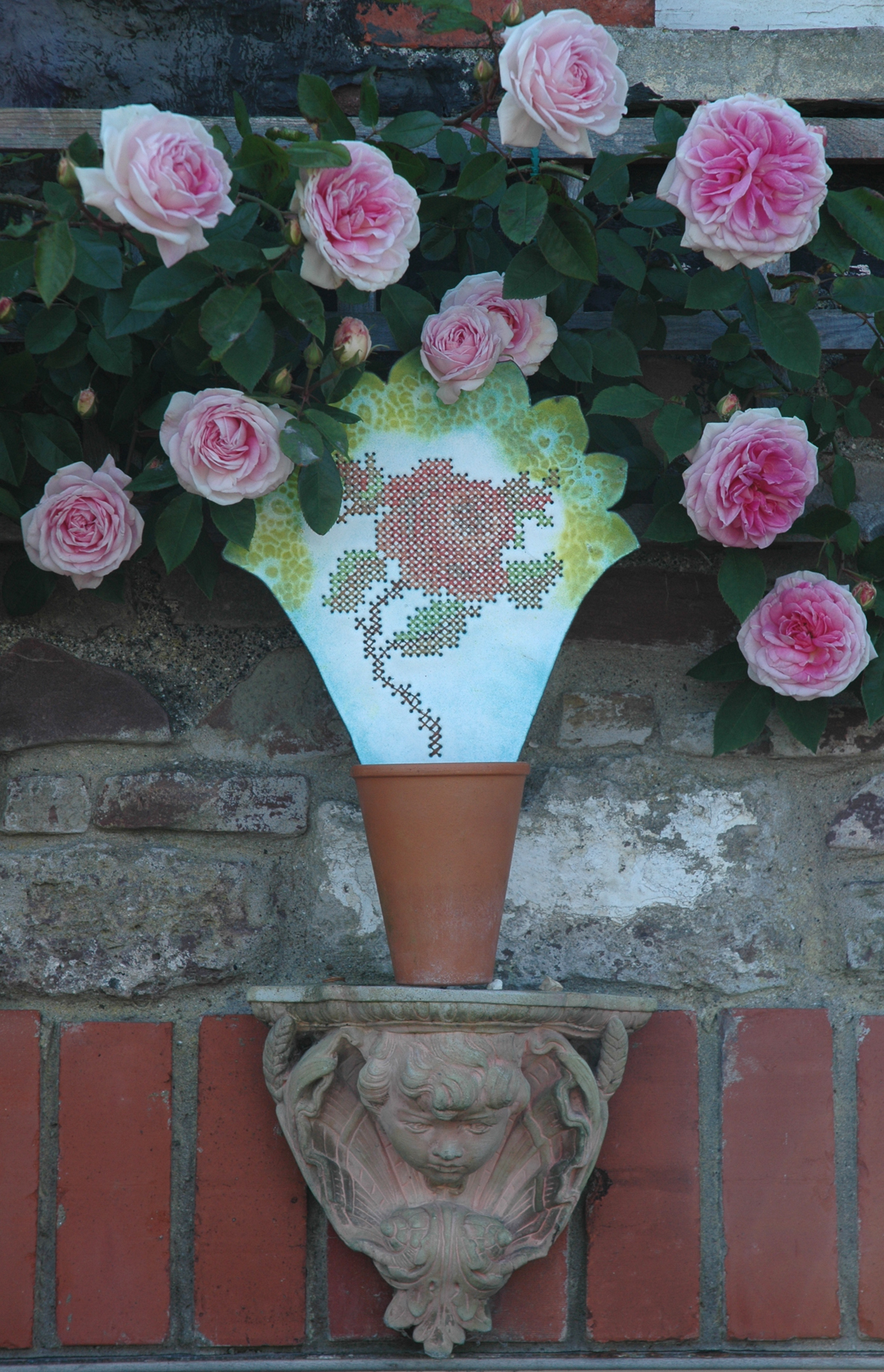 embroidered rose front