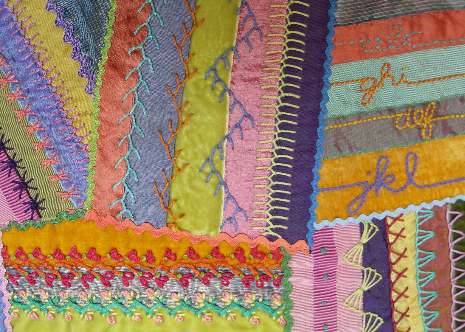 Crazy Patchwork Class Janet Haigh Her Work