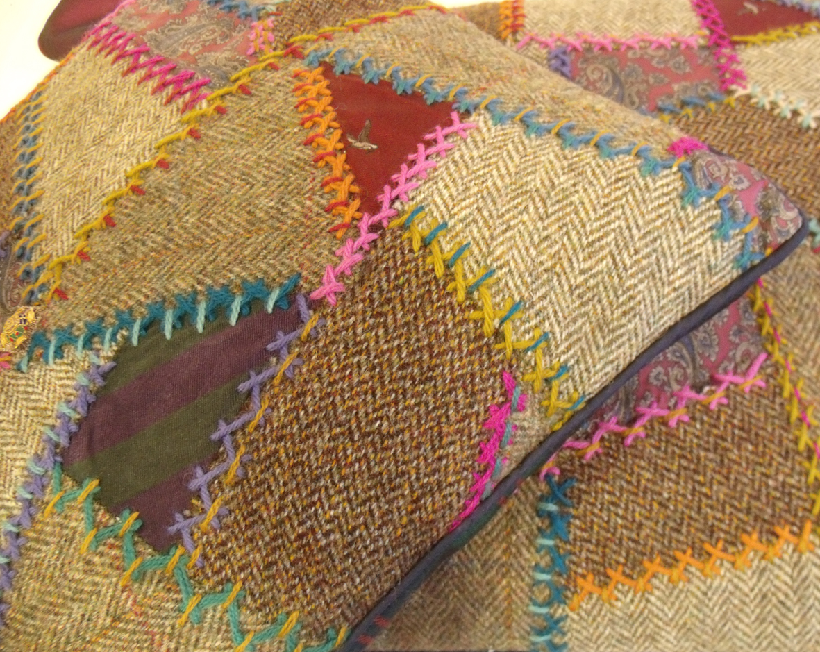 Tweed Patchwork Embroidery Janet Haigh Her Work