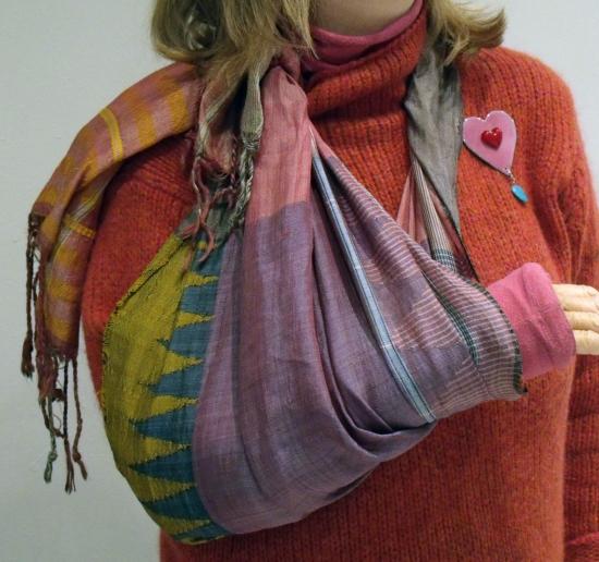 woven silk sling