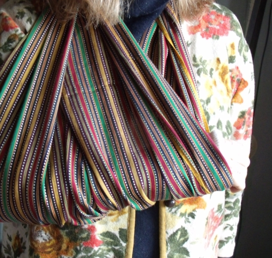 woven striped sling