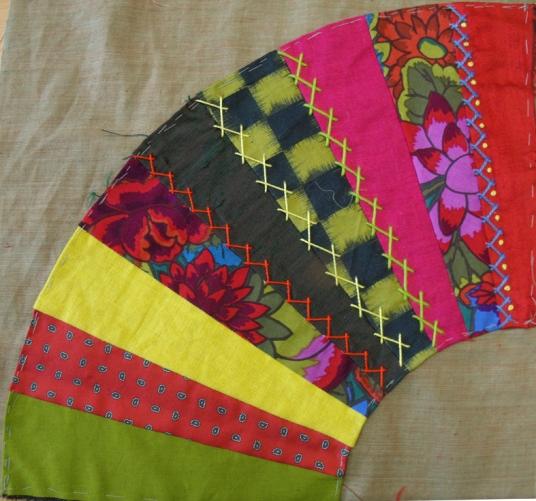 contrasting fabric fan
