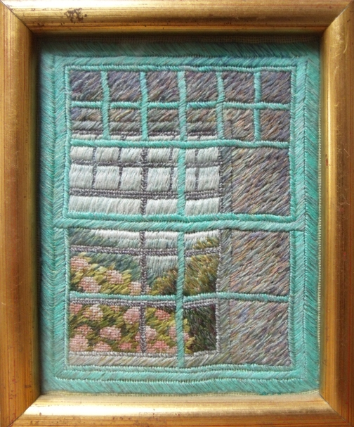 Cornish window embroidery