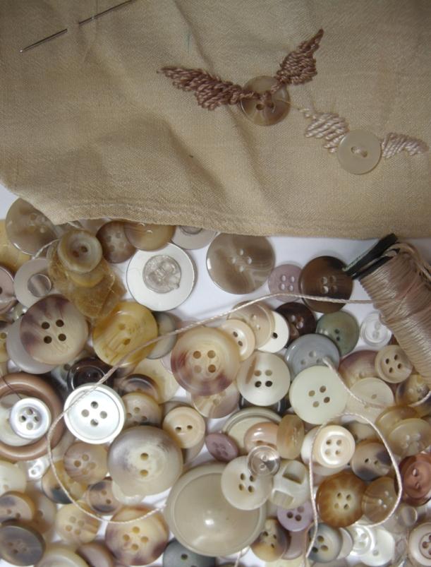 beige buttons