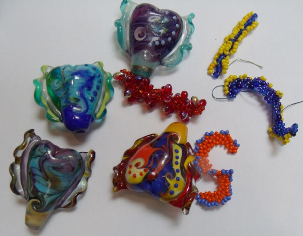 Hand made glass beads
