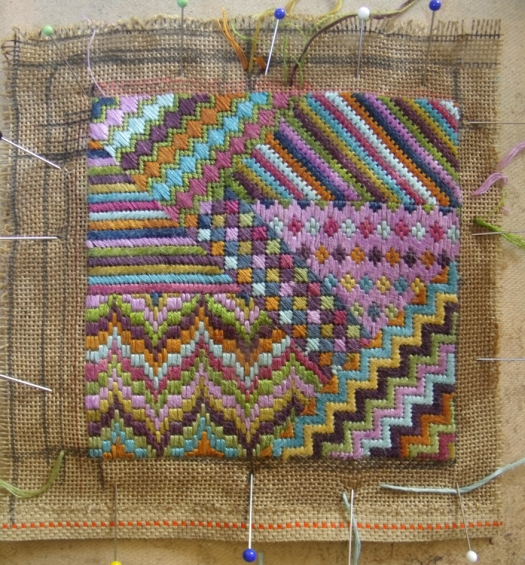 stretching cnavs embroidery