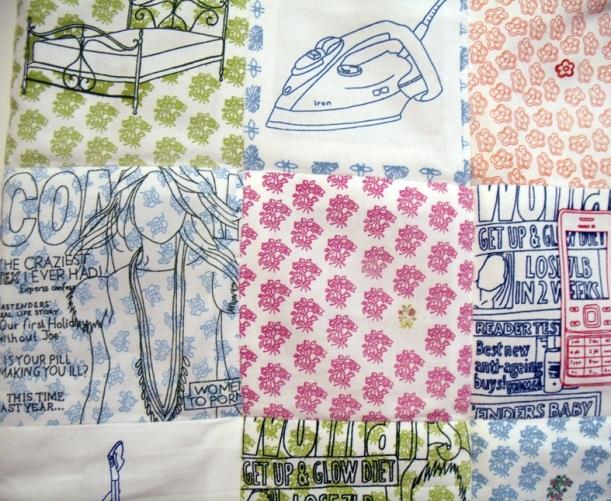 printed patchwork