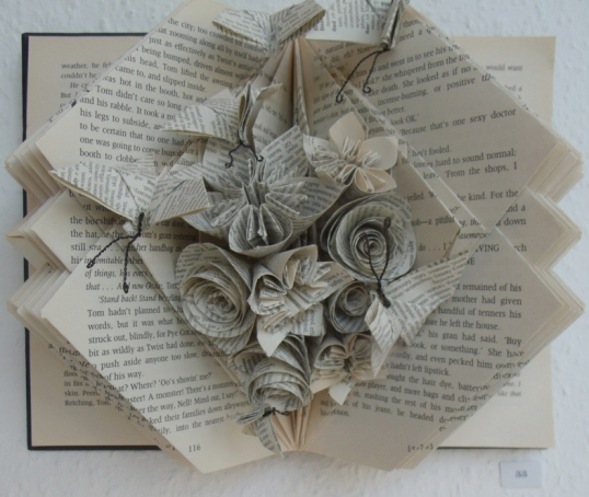 folded book sculpture