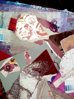 wonderful array of ripped papers from the Heart Space stash