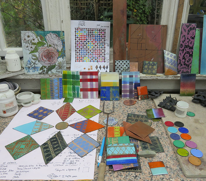 sample colours and patterns